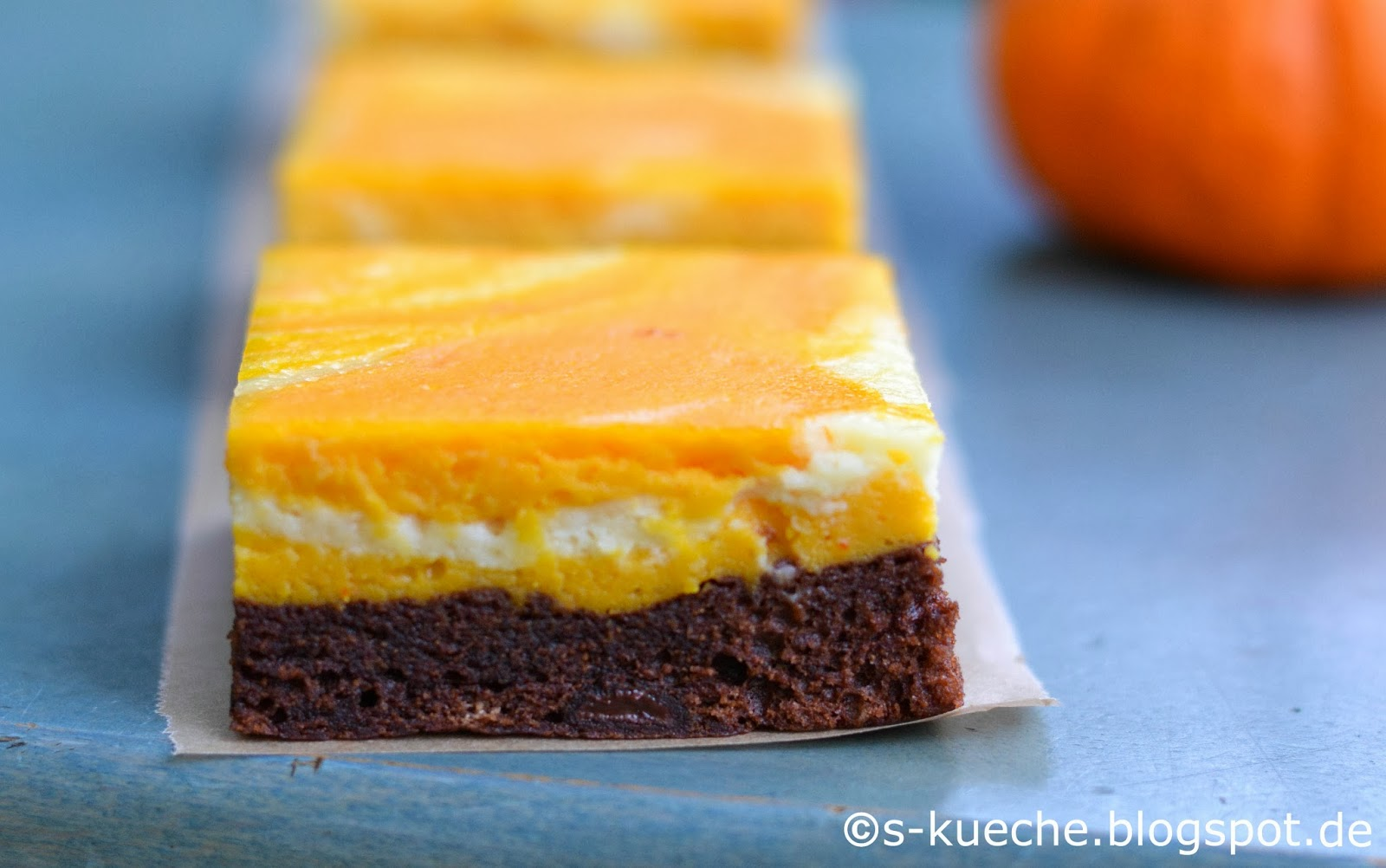 Kürbis-Cheesecake Brownies