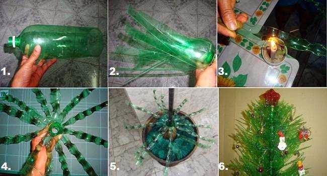 Como fazer arvore de natal diferente com garrafa pet passo a passo
