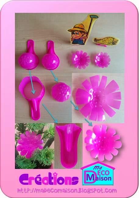 Doseur plastique fleur recyclage