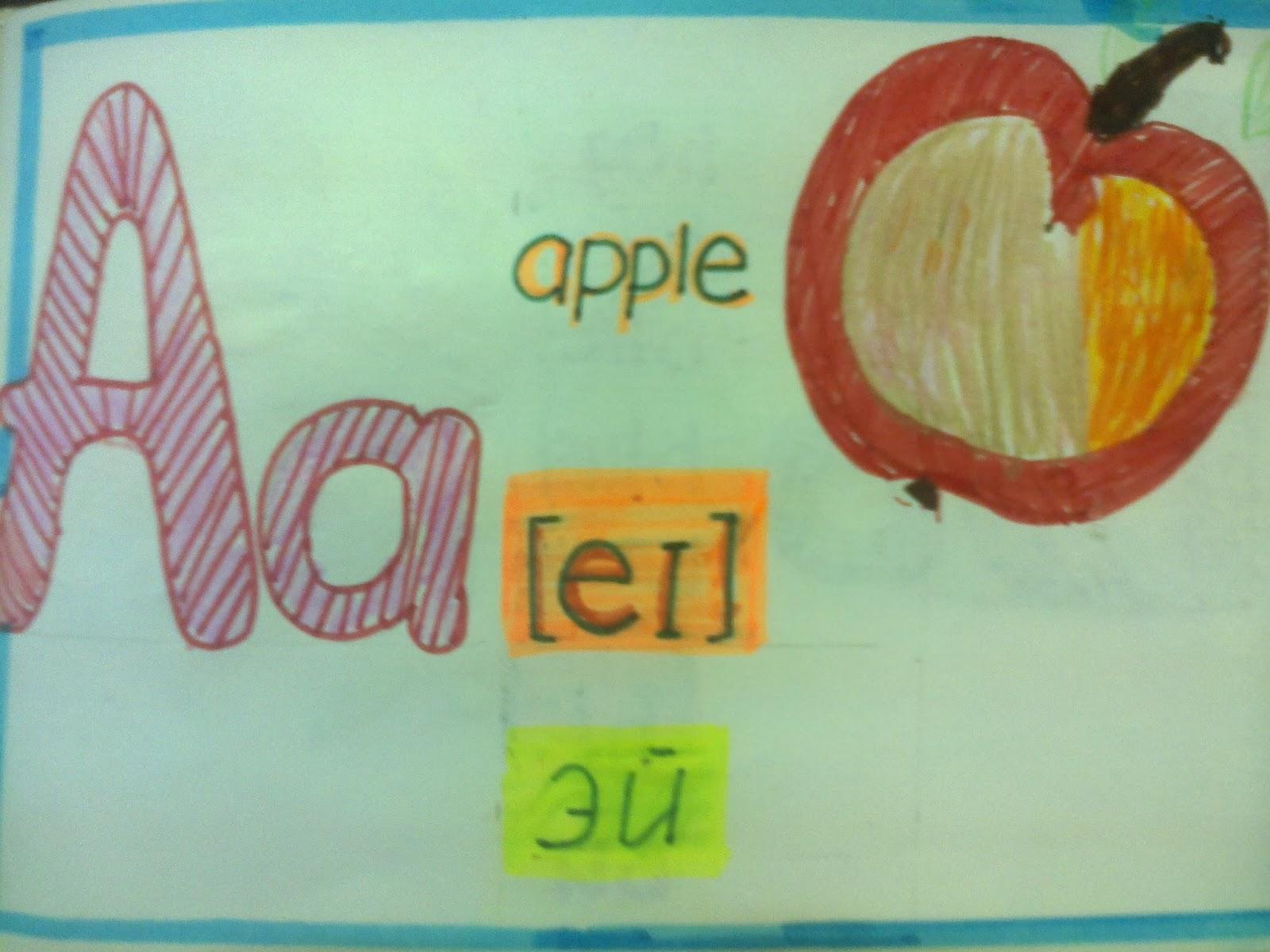Английская азбука своими руками класс