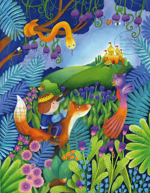 Emorine marie pierre illustratrice jeunesse un jardin extraordinaire - Dessiner un jardin ...