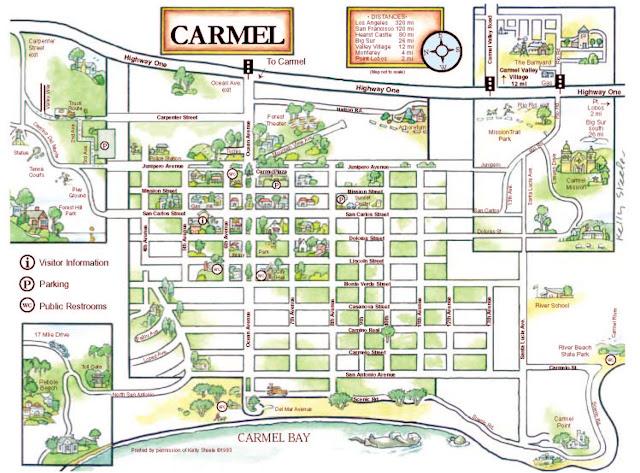 Chamber of Commerce map of Carmel