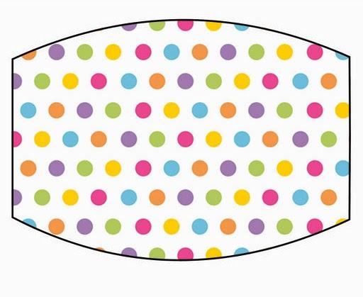 Kit bolinha colorida rotulo esmalte