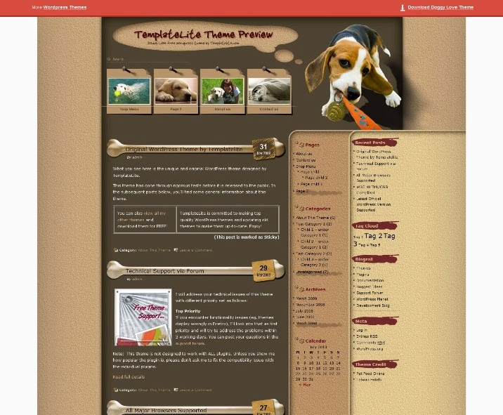 Doggy Love Free WordPress Theme