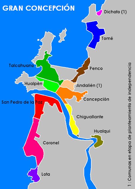 mapa de gran concepción