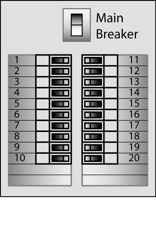 Electric panel box label