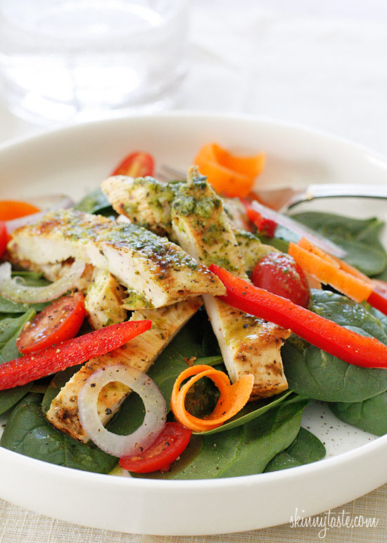 Grilled Chicken and Spinach Salad with Balsamic Vinaigrette ...