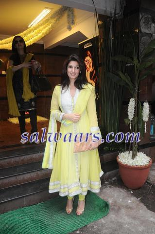 Twinkle Khanna in Yellow Salwar - Indian Dresses