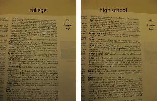 thesis for college vs high school