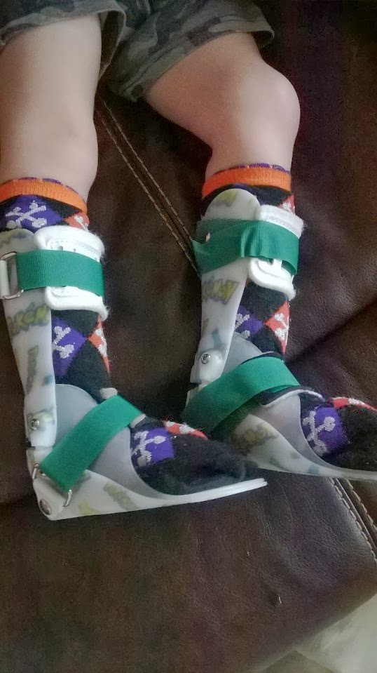 Jedi Mom Ankle Foot Orthosis AFO and Toddler