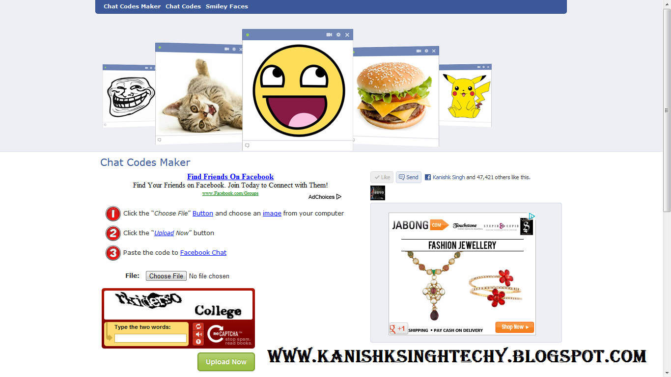 Big Emoticons in Facebook Chat.(Make your very own Emoticons ...