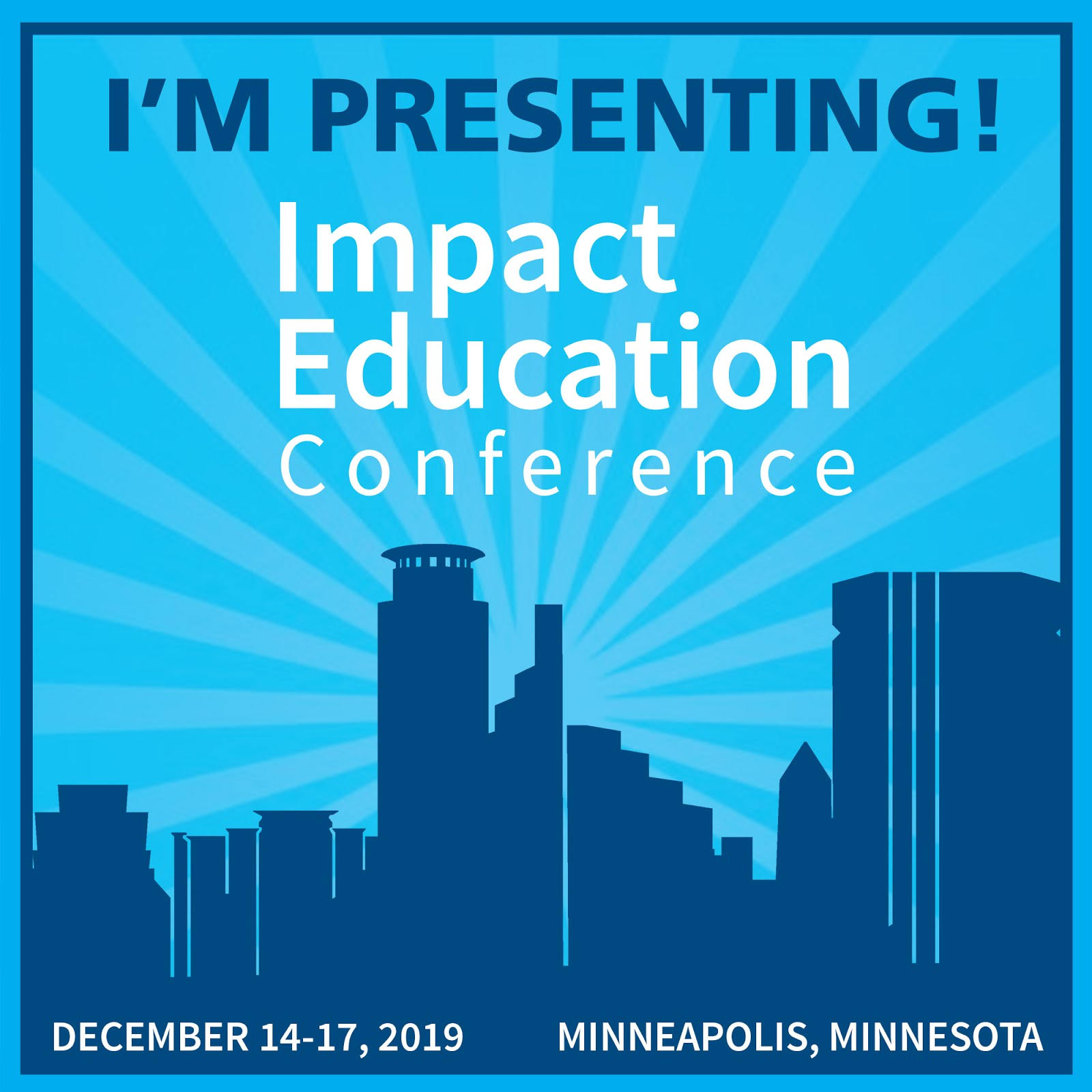 Impact Education 2019 Presenter