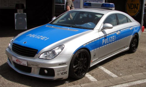 image of germany police car brabus