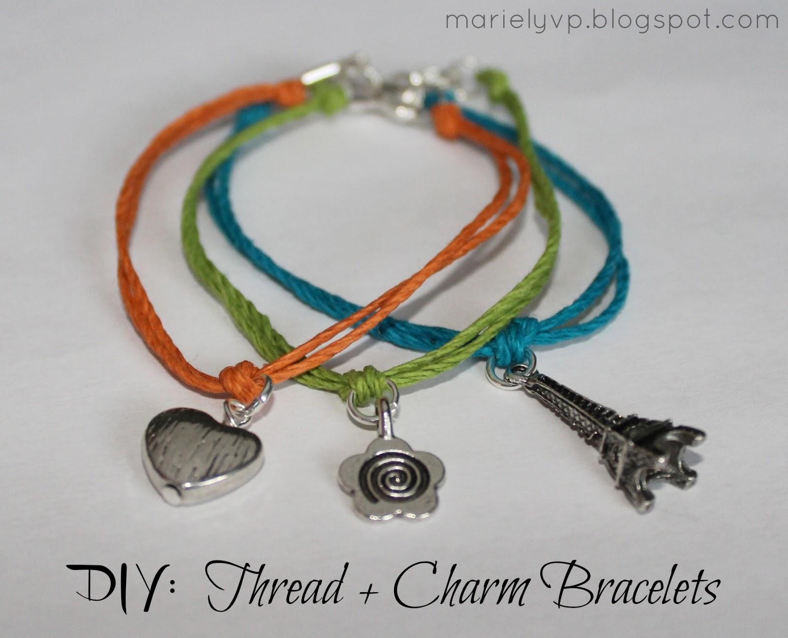 we read diy thread charm bracelets