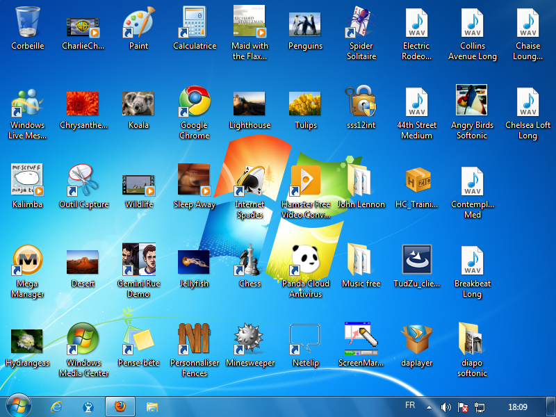 Comment faire r appara tre mes ic nes de bureau vite for Windows 7 bureau vide