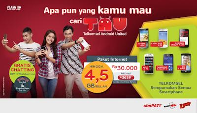 Telkomsel Android United Rp.30 Ribu Dapat 4.5 GB, Mau??