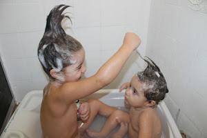 cabeça tá na hora de lavar ...