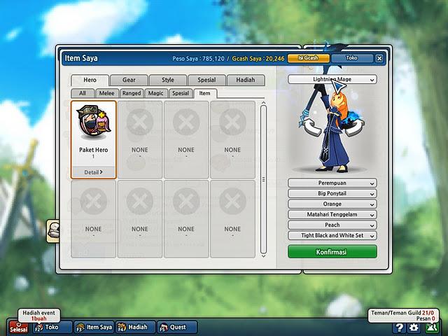 Cheat Lost Saga Indonesia Hero Permanen Terbaru Oktober 2011