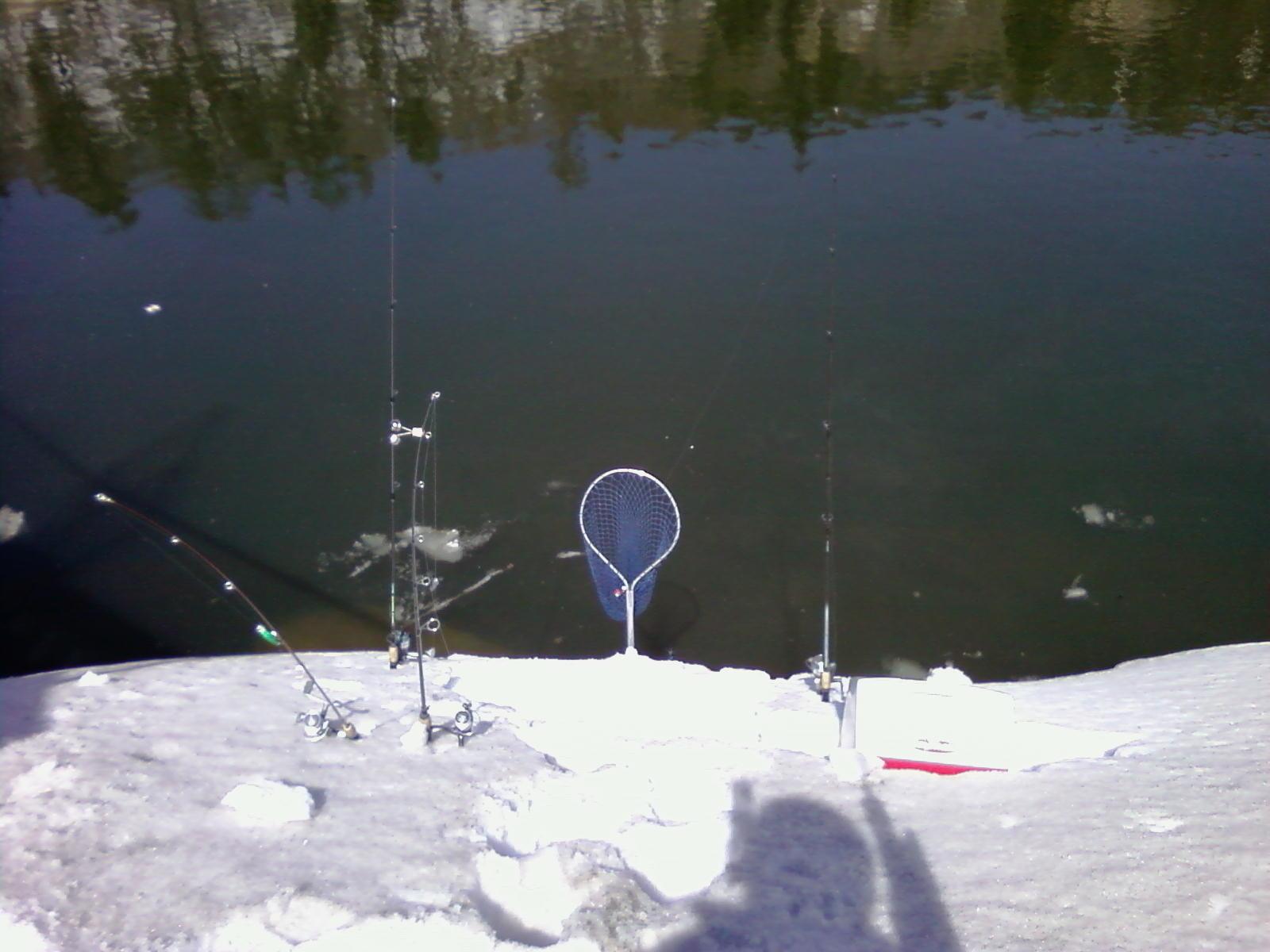 Extreme fishing big bear lake spring rainbow trout fishing for Snow bear ice fishing