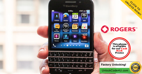 Factory Unlock Code for BlackBerry Q10 from Rogers