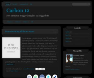 Carbon 12 Blogger Template