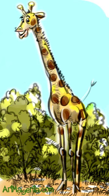 Giraffe is a drawing by illustrator Artmagenta