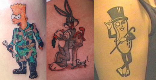 Cartoon Tattoos  Popular Tattoo Designs
