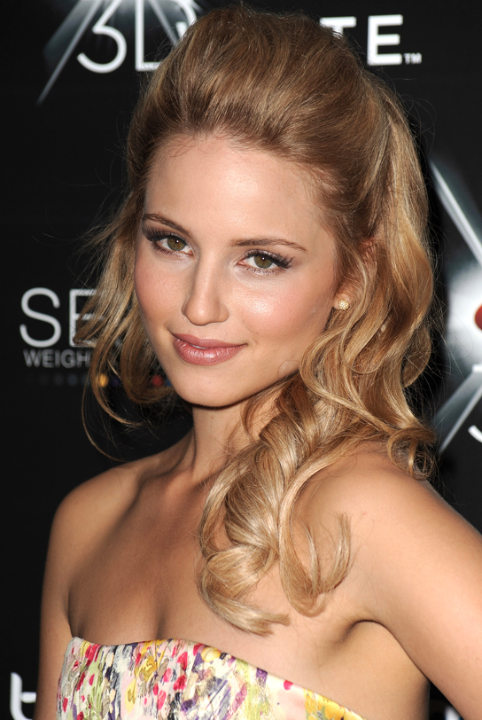dianna agron hair down. Dianna pulls this look off