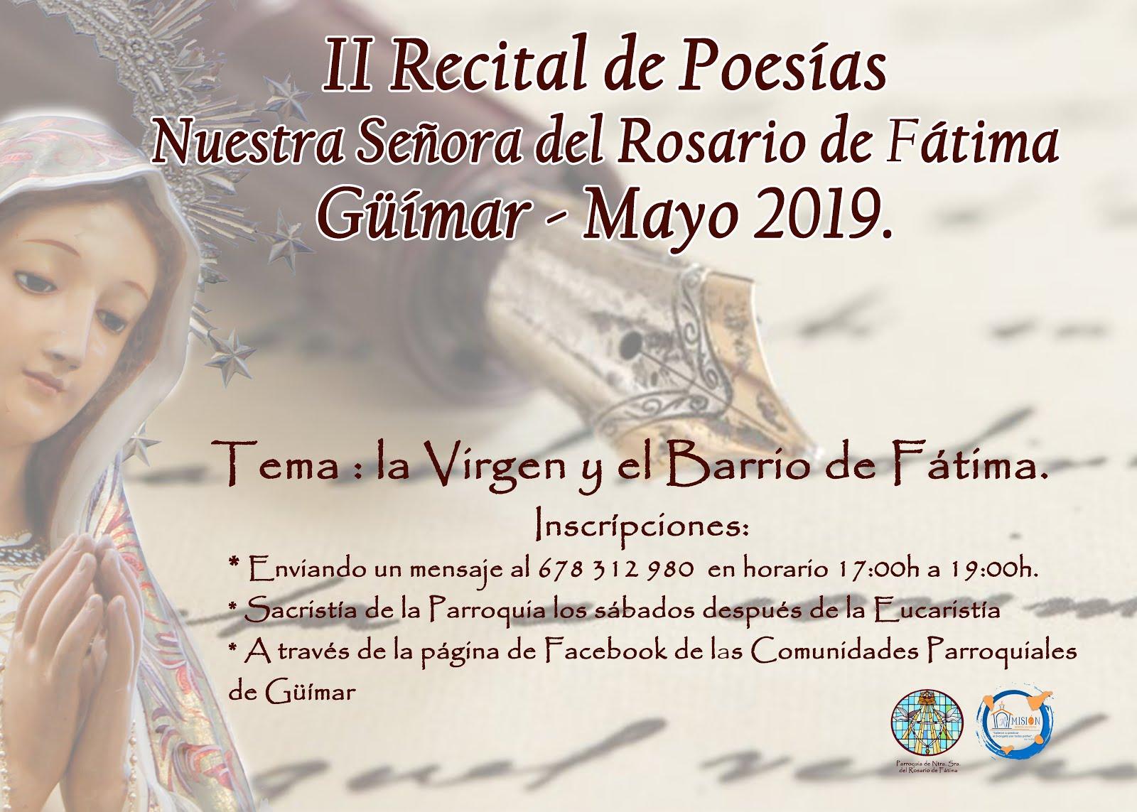 Incríbete en el 2º Recital de Poesía  Ntra. Sra. del Rosario de Fátima