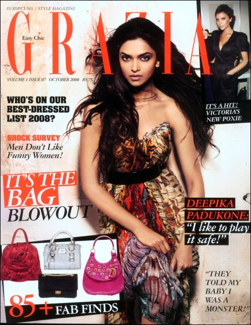 Deepika Padukone On Cover Page of Fashion Magazine Grazia