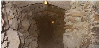 túnel roca basaltica