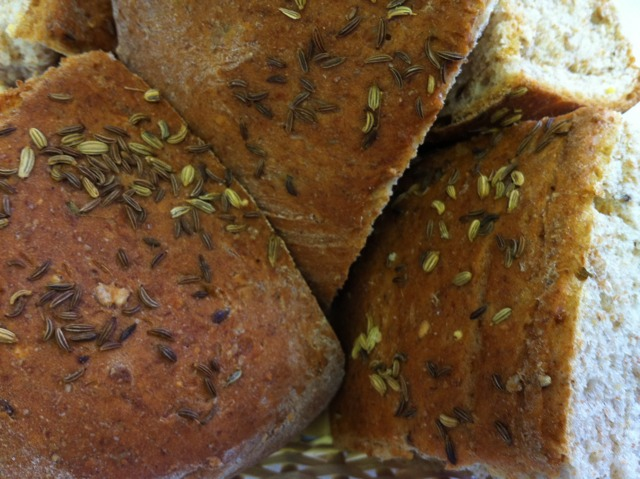 Flat Bread with Fennel & Caraway Seeds