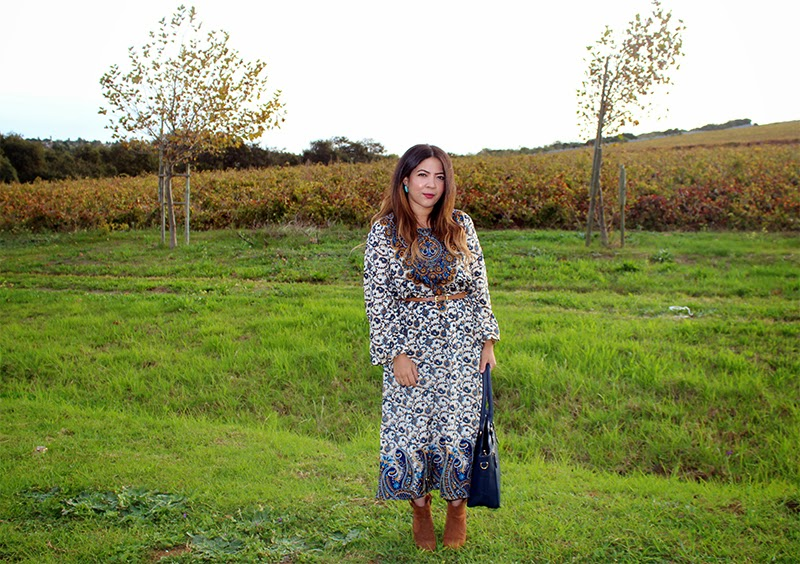 how to wear a maxi dress in winter, cape town fashion blogger, blackcherry, laiqah ally, lucky loves, ombre hair cape town
