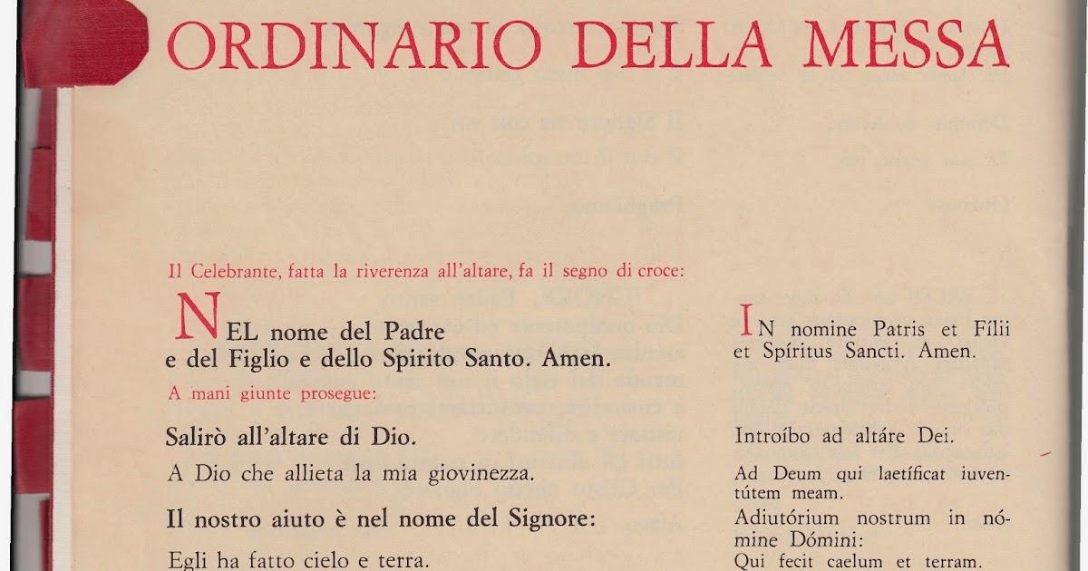 Il Matrimonio Romano Versione Latino : Mil messainlatino anni fa la prima messa in