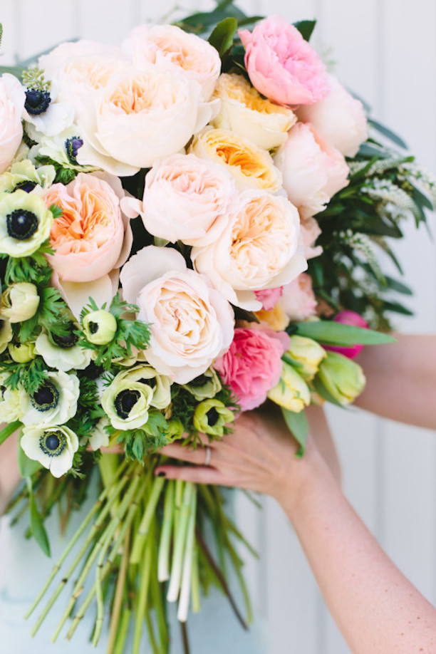 Big Blush Bouquet With Anemone Accents