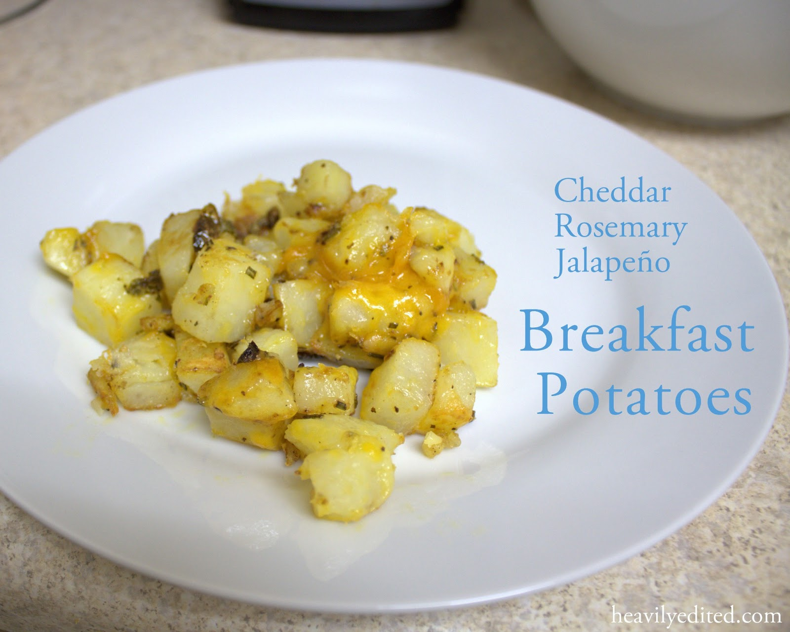 cheesy cheddar rosemary jalopeno breakfast potatoes