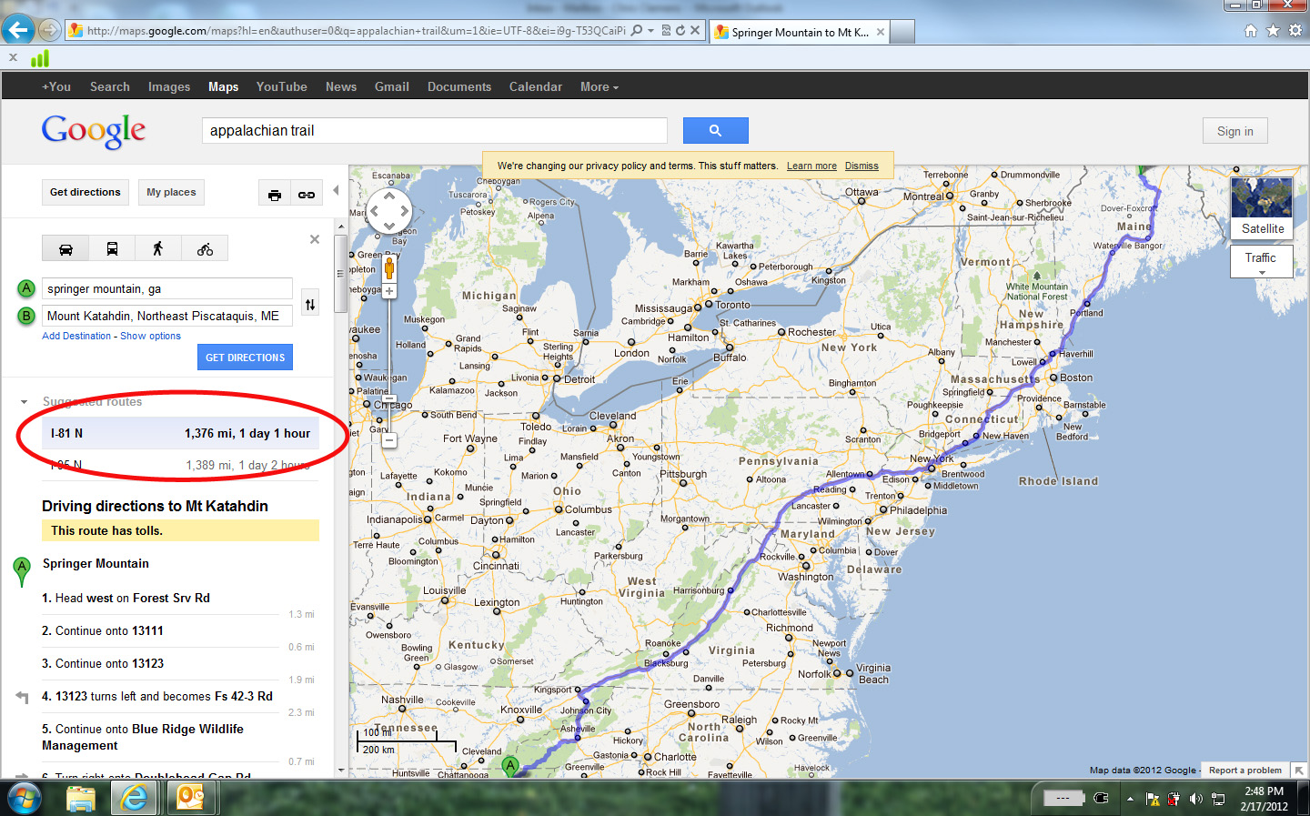Driving directions mapquest
