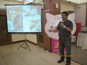 "Dr  K.G.Umesh of ""Whiskas"" explaing ""Cats & Cat care""."