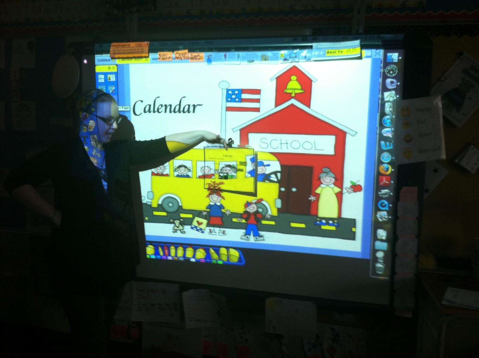 Kindergarten Calendar Time Smartboard : Kindergarten smiles morning message calendar time