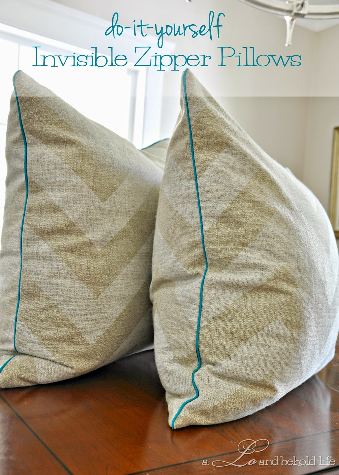 These pillows were my second sewing project so when I say sewing your own pillow covers is easy\u2026 it\u0027s really easy! & DIY pillow cover with piping and zipper | A Lo and Behold Life pillowsntoast.com
