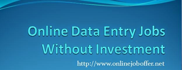 Online Data Entry Jobs Without Investment 2015
