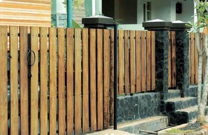 contoh pagar minimalis desain terbaru