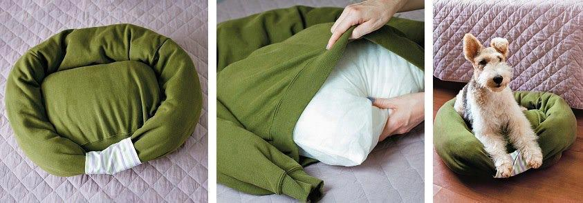 Из чего сделать лежак для собаки своими руками 3