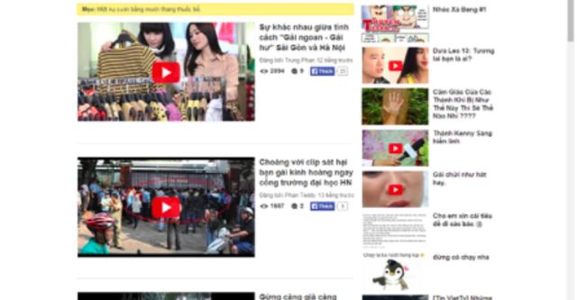 Trang web nhái Haivl hút người dùng