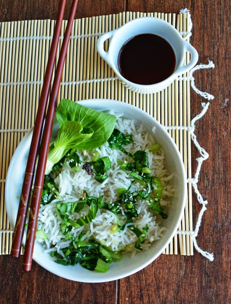 Bok Choy Fried Rice with Basmati Rice |Pepper Bowl, a Food blog of ...