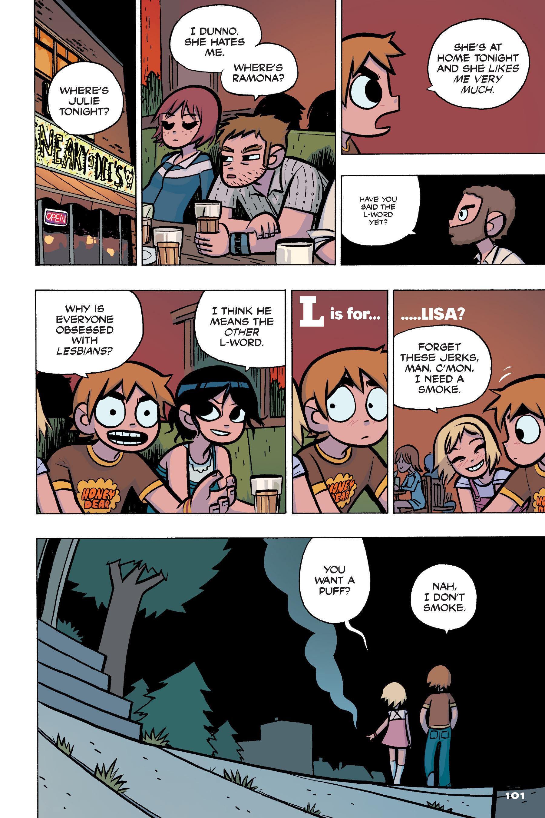 Read online Scott Pilgrim comic -  Issue #4 - 99