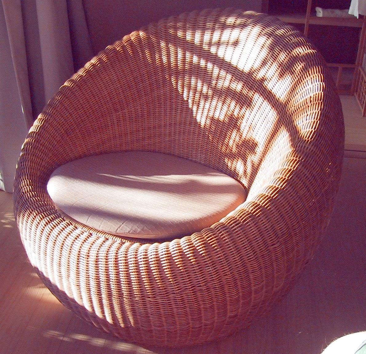 fauteuil moderne en rotin