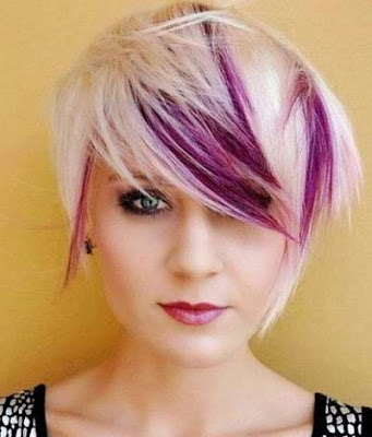 Tren warna highlights untuk rambut pendek 2016
