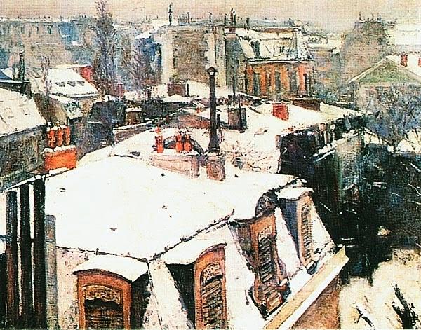 Гюстав Кайботт. Снег на крышах. 1878.
