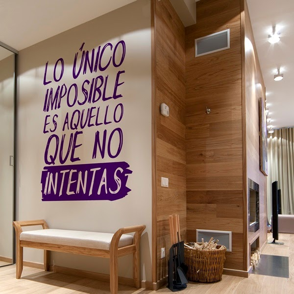 Papel pintado vinilos decorativos textos for Decoracion de interiores frases